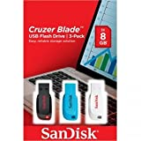 Sandisk Cruzer Blade, 8GB 8GB USB 2.0 Negro, Azul, Color blanco unidad flash USB - Memoria USB (8GB, USB 2.0, USB 2.0, Type-A, Sin tapa, Negro, Azul, Color blanco, Windows 7 Enterprise, Windows 7 Enterprise x64, Windows 7 Home Basic, Windows 7 Home Basic x64, Wind)