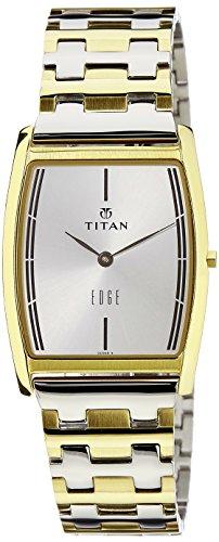 Titan Edge Analog White Dial Men's Watch - 1044BM02 image