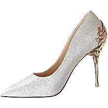 Minetom Mujer Elegante Tacón Alto Zapatos Apuntado Zapatos Boda Fiesta Zapatos