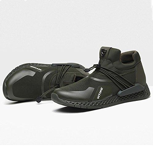 VITIKE Scarpe da Ginnastica Ashion Scarpe da Corsa Training Uomo Mesh Scarpe Running Sneakers Respirabile Fitness Sport Leggero 4-verde