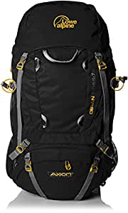 Lowe Alpine Breathable Axiom 3 Unisex Outdoor Hiking Backpack available in Black - 65 Litres