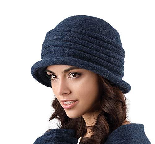 Kamea Salerno Damen Hut Kopfbedeckung Winter Herbst, Mütze:Dunkelblau -