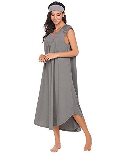 Skylin Women Nightwear Lingerie Sexy Cotton Sleepwear V Neck Pajamas Sleep  Dress S-XXL - cfbf72c4c
