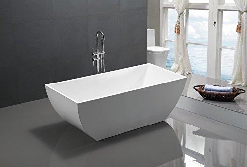 Design freistehende Acryl Badewanne 150x75x60 cm weiss TASSE 150