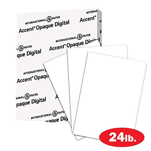 Accent 209355R Opakes weißes Papier, 60 lb Text, 89 g/m², Briefgröße, 8,5 x 11 Papier, 97 hell, 1 Ries / 500 Blatt, glatt, schwerer Karton - 60 Papier Lb