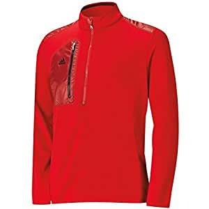 2015 Adidas Sport Performance ClimaHeat Half-Zip Layering Top Mens Lightweight Golf Cover-Up Power Red Large