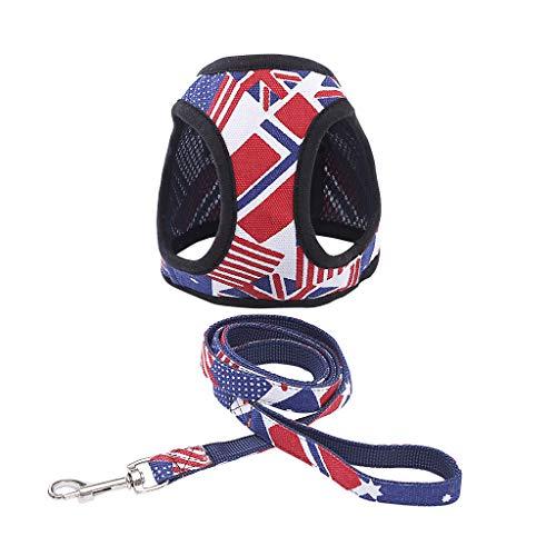 Englische Für Bulldoggen Kostüm - Hawkimin Pullover Hund Einstellbare Haustier Hund Breathable Traction Reis Flagge Brustgurt Für Hunde Weste