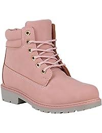 Stiefelparadies Unisex Damen Herren Worker Boots Übergrößen Flandell b7020c5b45