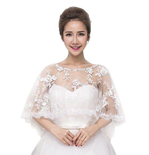 JUNGEN Braut Jacke Damen Jacke Mantel Bolero für die Braut Hochzeit Bolero Bolero Hochzeit Wrap und Schals