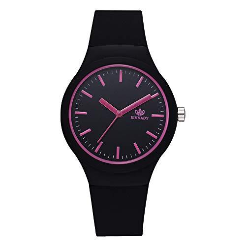 Lazzgirl Damen Feste Muster Armbanduhr Uhr silikonband Mode Frauen Uhren Casual(Bunt,One Size) -