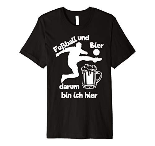 Fußball und Bier T-Shirt Geschenk Fussball Trainer