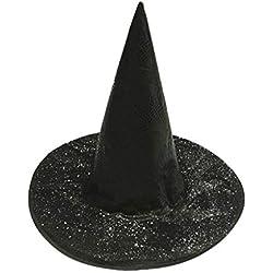 MXJEEIO Sombrero de Bruja de Calabaza para Mujer Adulta Gorros Halloween Oxford paño Bruja Mago Sombrero Sombrero mágico del Mago Fiesta Cosplay de Juguetes para Accesorio de Disfraces de Halloween