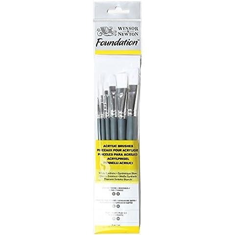 Winsor & Newton 5295007 Set di pennelli, legno, Multicolore, 7