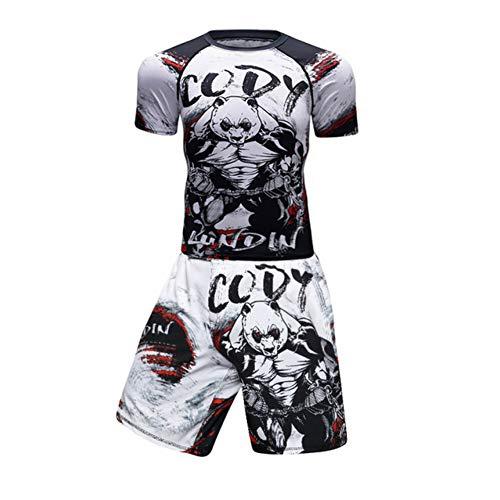 Short Sleeve 2019 Nuevo MMA Ejercicio compresión Rashguard Camiseta Hombres VS PK Gyms Deportes 3D Fitness Medias Bodybuild Crossfit Rash Guard
