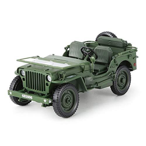 Peanutaod Alloy Diecast 1:18 Für Jeep Military Tactics LKW Auto Modell Öffnung Hood Panels Um Den Motor Für Kinder Geschenk Spielzeug