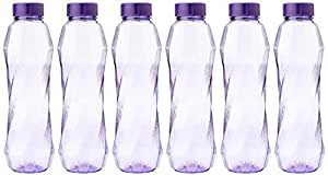Princeware Pet Fridge Bottle Set, 6-Pieces, 900 ml, Violet