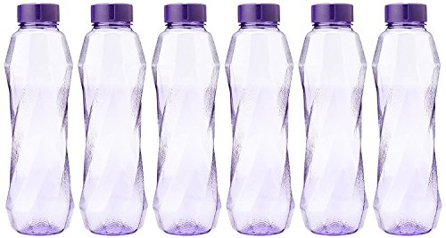 Princeware Pet Fridge Bottle Set, 6-Pieces, 900 ml, Violet