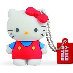 Tribe Hello Kitty Classic Chiavetta USB da 8 GB Pendrive Memoria USB Flash Drive 2.0 Memory Stick, Idee Regalo Originali, Figurine 3D, Archiviazione Dati USB Gadget in PVC con Portachiavi - Multicolore