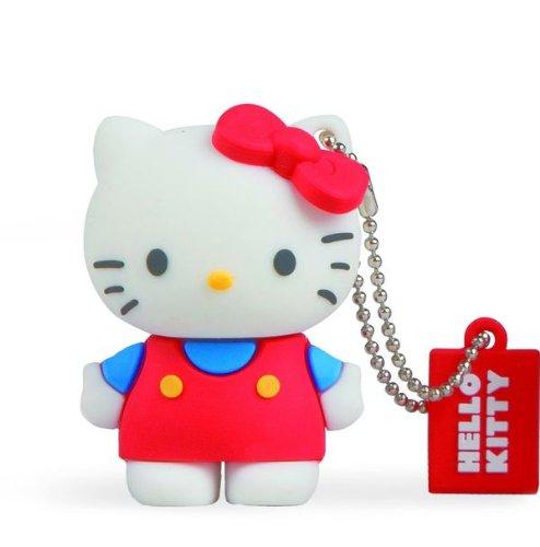 Tribe Hello Kitty Classic USB Stick 8GB Speicherstick 2.0 High Speed Pendrive Memory Stick Flash Drive, Lustige Geschenke 3D Figur, USB Gadget aus Hart-PVC mit Schlüsselanhänger – Mehrfarbig