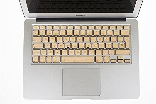 Holz Tastatur Aufkleber macbook EU. Modelle MacBook 13–15–17(2015und älter) Macbbok Pro 13–15(2016–17) Wireless Tastatur Keyboard und Magic. Real Kirsche/Ahorn - 15 Pro Holz-tastatur Macbook