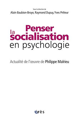 Téléchargement Penser la socialisation en psychologie pdf, epub