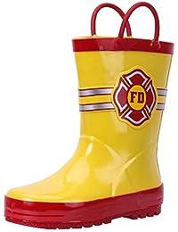 5272b6739617 zatoka Cute Kids Wellies Wellingtons Rubber Boots Easy Pull On Cartoon Rain  Shoes for Girls