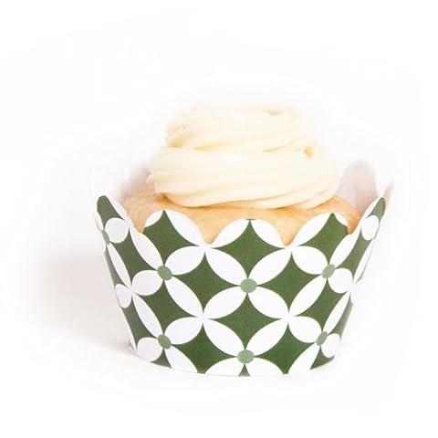 Dress My Cupcake Mini Leaf Green Diamonds