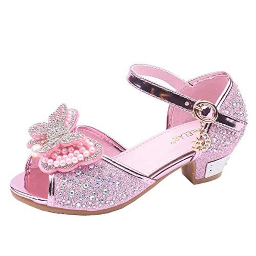 Zylione 721-5 Kinder MäDchen Bogen Perle Strass Tanzschuhe Prinzessin Einzelne Coole Schuhe -