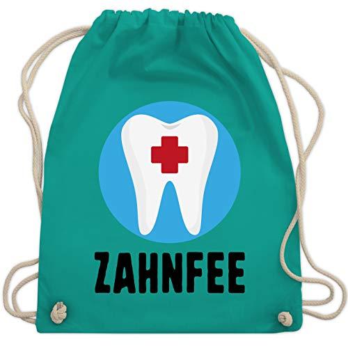 Karneval & Fasching - Zahnfee Zahn mit Kreuz - Unisize - Türkis - WM110 - Turnbeutel & Gym Bag