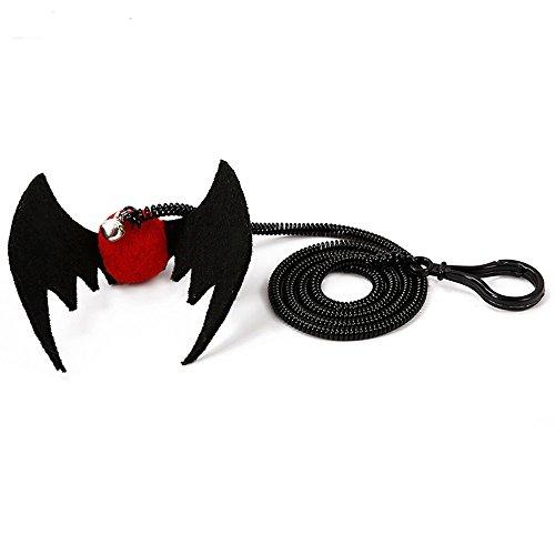 Roblue Katze Spielzeug Fledermaus und Spinne mit Seil Glocke für Pet Halloween Party Supplies 1 Pcs (Uk Halloween Supplies Party)