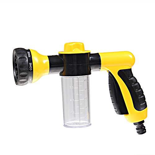 Einen Schritt Sanftes Reinigungsmittel (BENPAO Schlauchschaumsprüher - Gartenwasserschlauchspender Pistole, Reinigungskanone, 8 Bewässerungsmuster für Autowäscher, Haustierdusche, Pflanzenbewässerung)