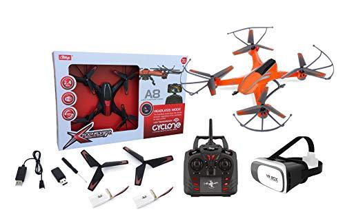 Outletdelocio. Drone radiocontrol con camara A8 Wifi FPV + Gafas VR. Pilota como si estuvieras dentro del drone. 2 baterias incluidas