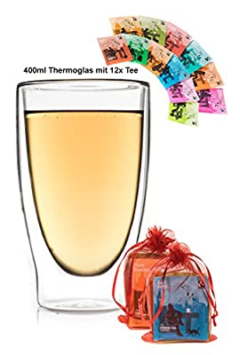Feelino 400ml Long (Duos) Verre à thé + 3x Accessoires