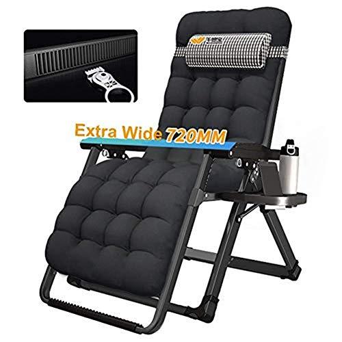 Liegestuhl Übergroße Schwerelosigkeit Patio Liegender Arden Chair Outdoor Klappbarer tragbarer Schaukelstuhl Unterstützt 200 kg