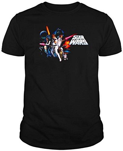 The Fan Tee Camiseta de Hombre Star Wars Dark Vader Han Solo Fuerza Kylo Ren Leia 3XL