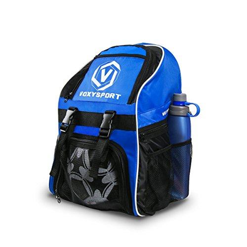 Nofonda Fußball Rucksack mit Schuhfach Ballbeutel Multifunktion Sporttasche Training Tasche für Schuhe Wasserflaschen Sport Accessoires
