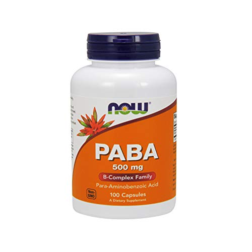 PABA, 500 mg, 100 cápsulas - Now Foods