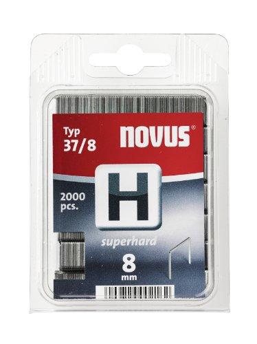 Novus 042-0370 Blister de 2000 Agrafes fines 37/8 mm Renforcées Rouge