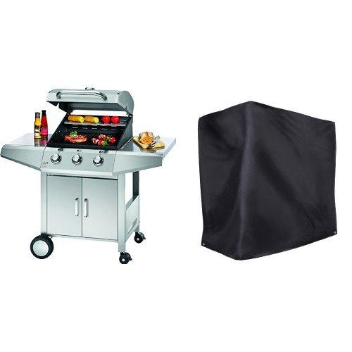 Profi Cook PC-GG 1057 Gasgrill 3-Brenner + Ultranatura Barbecue Grill Hülle Chateau