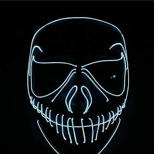 ge Maske led kaltlicht Maske ausgefallene tänzer Maske glühende Masken kreativer Stil Maskerade Partei straße Tanz handgemalt ()
