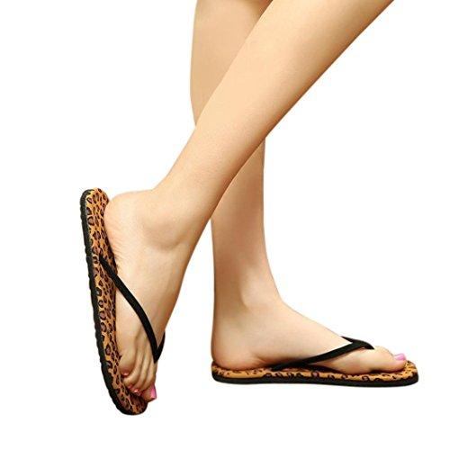 Flip Flops, greatestpak Damen Sommer Flip Flops Sandalen Slipper, innen und außen, EVA, coffee, 38 (Braut Flip-flops Für Frauen)