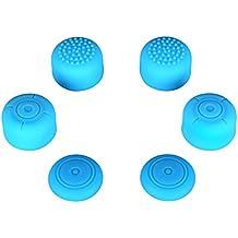 eXtremeRate Botones de Joystick Analogico Packsilicone Pulgar Funda para palanca de mando Tapas de Pulgar Thumbsticks Thumb Grips Pulgar Grip antideslizante Goma para mando inalambrico Nintendo Switch Joy-con ( 3 Pares de Silicona Azul )