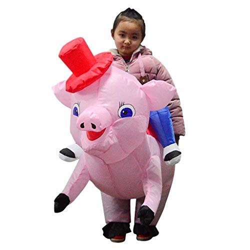 Jumpsuit Fett Kostüm - Baoblaze Rosa Schwein Kostüm Aufblasbares Kostüm Luft Jumpsuit Fett Anzug Cosplay Zubehör