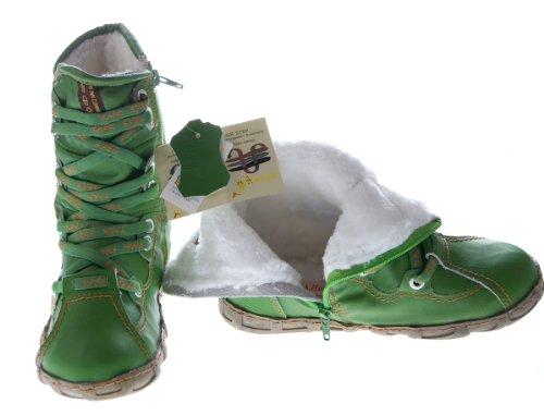 Leder Stiefeletten Damen Schwarz Gelb Blau Rot Grün Weiß Köchel Schuhe echt Leder Winter Stiefel gefüttert Grün