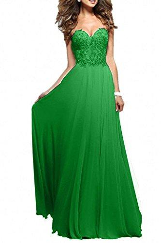 kleid grün spitze lang
