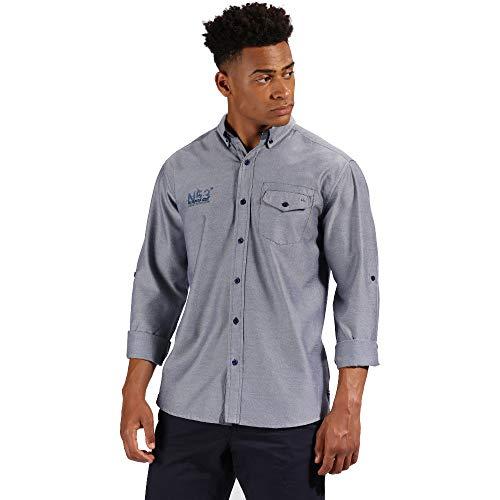Regatta Mens Benan Oxford Long Sleeve Button Up Shirt -