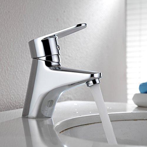 Homelody Wasserhahn Badezimmer Waschtischarmatur Bad Badarmatur Einhebelmischer Armatur Waschbecken Mischbatterie Waschtisch Waschbeckenarmatur Messing