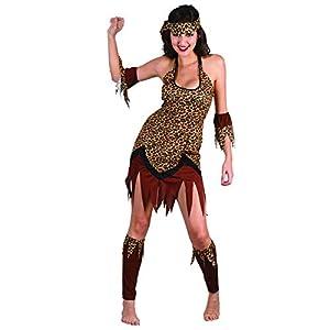 Reír Y Confeti - Fibcav008 - Disfraz Para Adultos - Mujer Traje De Cuevas - Mujer - Talla M