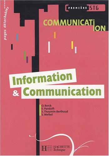 Information et Communication 1e STG