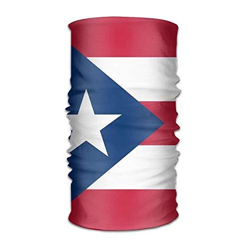 FAFANIQ Puerto Rico Flag Unisex Breathable Headband Bandanas Headwear Balaclava Neck Gaiter Magic Scarf UV Protection for Daily Activities
